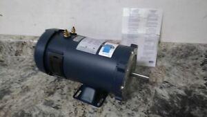 Leeson 108048.00 3/4 HP 1800 RPM 12VDC 26.3 In-Lb DC Permanent Magnet Motor