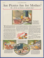 Vintage 1921 LIBBY'S Mustard Dried Beef Veal Loaf Kitchen Decor 20's Print Ad