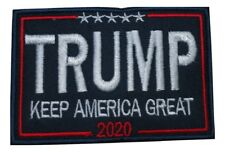 Trump Keep America Great 2020 President MAGA Embroidered Hook and Loop Patch
