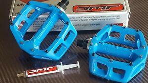 "DMR V8 Pedals 9/16"" Mountain Bike BMX (VIVID BLUE) Classic Platform (NEW)"
