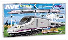 Tren Electrico AVE RENFE Metalico Locomotora Vagones Puente Semáforo Desvíos 710