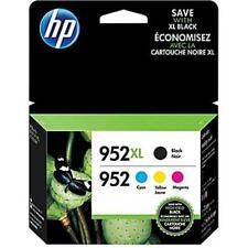 NEW Genuine HP 952XL Black & 952 Cyan, Magenta, Yellow Ink Cartridges (1 Set )