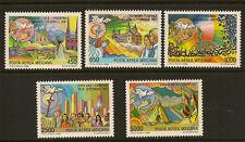 VATICANO:1988 air-pope PAUL'S viaggi 6 Set SG 912-16 Unmounted MINT