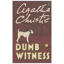 Dumb Witness (Hercule Poirot Mysteries) [Large Print] by Agatha Christie.