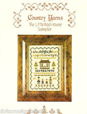 Country Yarns THE LITTLE RED HOUSE SAMPLER in Cross Stitch Leaflet Pattern