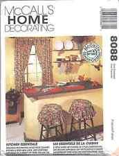 8088 UNCUT Vintage McCalls SEWING Pattern Kitchen Essentials Curtains Mitt Towel