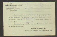 """BOURBON-LANCY (71) Usine AGRICOLE & TRACTEUR """"Emile PUZENAT a Fils"""" 1906"""