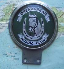 Old Vintage Chrome Car Mascot  for Breakspear Riding Club Horse Pony by Beaulah