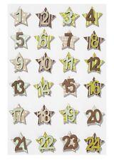 Numeri in legno 1-24 Marrone/Verde/Beige ADVENTSKALENDER numeri Advent Calendario vescicole