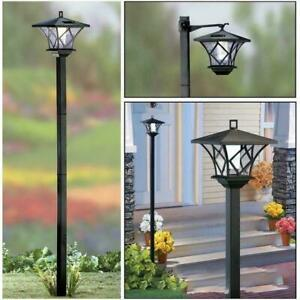 LED Solar Powered 5 FT Traditional Garden Lamp Post Lantern Decor Yard Lamppost