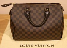 *****Louis Vuitton Speedy 30 Damier Ebene Handbag Bag Purse L@@K*****