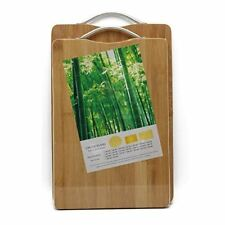 Sahe Products Chopping Board, Wooden and Sturdy Chopping Block, 22cm x 32cm x 1.