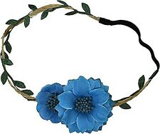 FREE SPIRIT HALO FLOWER HEAD BAND PROVENCE BLUE NWT MSRP $18
