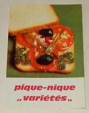 """Fiche Recette de CUISINE Pain JACQUET : Pique-Nique """"Variétés"""" - Vintage"""