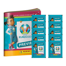 2020 PANINI EURO CUP SOCCER PREVIEW STICKERS STARTER PACK (ALBUM +50 STICKERS)