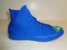 Converse Size 5 Womens CTAS HI Blue Green Brazil Flag Sneakers New Unisex Shoes