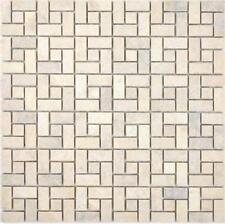 Marmor Mosaik Rad Stein chocolate poliert Bad Küche Wand Boden 88-B23_f 10Matten