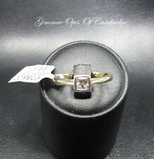 9ct Gold 0.3ct Princess cut Diamond Solitaire Ring Size N 2.7g