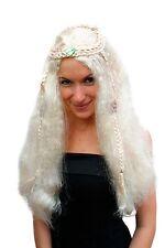 Perücke blond, lang, Mittelscheitel(Hippie,Perrücke)NEU