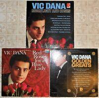Vic Dana, 3 Vinyl Record Lot, All LP & US 1st Press, 60's Trad Pop Moonlight