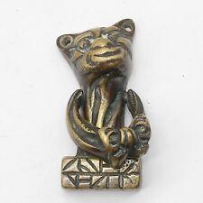 ANTIQUE GREEK OR RUSSIAN CHESHIRE CAT BRONZE DOOR KNOCKER