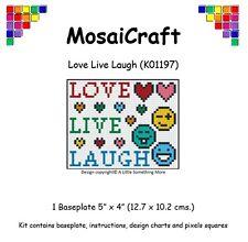 MosaiCraft Pixel Craft Mosaic Art Kit 'Love Live Laugh' Pixelhobby