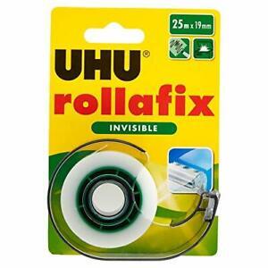 UHU Rollafix, Adhésif, Dévidoir avec Recharge, 25 m (emballage traditionnel)