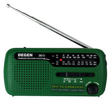 DEGEN DE13 Radio FM MW SW Crank Dynamo Solar Emergency World Receiver
