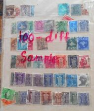 100 ALL DIFFERENT DEFINITIVE Stamp - india