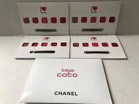 Lot For 4 Rouge Coco  5 Ultra Hydrating Lip Colour By Chanel Sample Size On Card