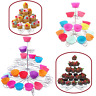3-5 TIER HOLDS 13-41 CUPCAKE STAND CAKE HOLDER PARTY HALLOWEEN DECOR BIRTHDAY