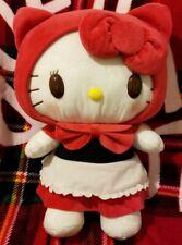 New Sega Sanrio Hello Kitty Little Red Riding Hood Mega Jumbo Soft Plush 35cm