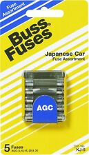 Bussmann 5 Pack Assorted Electrical Fuses AGC Glass 5,10,15,20 &30 AMP KJ-5