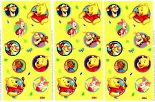 3 Sheets Disney Scrapbook Stickers Winnie the POOH Piglet Tigger Roo