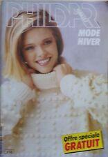 § catalogue ancien laine tricot PHILDAR n° 111 hiver - 1984