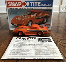 1979 Monogram 1016 Corvette SnapTite 1/32 Scale Model BUILT with Instructions