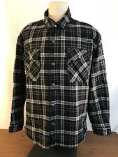 Plaid Cotton and Dark Denim Reversible Work Jacket Coat Mens Size XL (NC12)