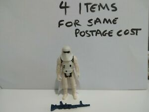 Vintage Star Wars Hoth Stormtrooper Figure Complete Original Skirt Repro Weapon