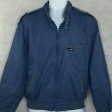 Vintage Members Only Cafe Bomber Racer Jacket Sz 40 Blue Full Zip Vintage 80's