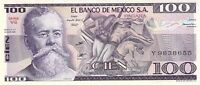 MEXICO 100 Pesos 1982 P-74 - UNC - Free to Combine Low Shipping