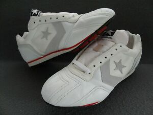 Converse 11.5 Deadstock Sport Lace-Up Turf Cleat White Grey Star VTG Korea 19730