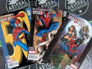 Ultimate Spider-Man #50-52 2000 Marvel Comics NM 9.4 Black Cat Bendis Bagley