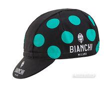 Bianchi Milano NEON Cycling Cap : Black/Celeste Dots