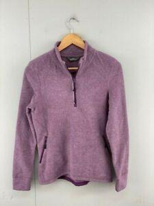 Eddie Bauer Womens Vintage Long Sleeve Fleece Jacket Size Small Purple