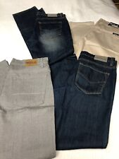 LOT of 4 Neo Blue Indigo Jeans 100% Cotton Made USA Size 32 Excellent NWT NWOT