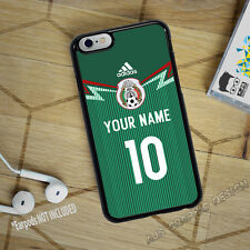 Mexico Jersey Soccer iPhone 7 or 7 PLUS Phone Case Custom Name & Number