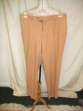 "Mens Trousers Meyer, pale rust cotton, waist 38"", inside leg 32"" non crease 0378"