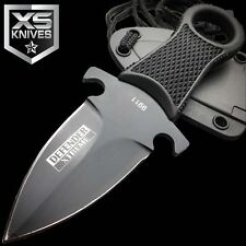 """5"""" XTREME Tactical Black FULL TANG NECK Knife FIXED BLADE MILITARY DAGGER"""