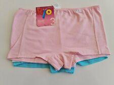 Rio Girls 3 Pack Cotton Briefs Underwear Sizes 12 14 Colours Purple Green Pink