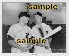 MICKEY MANTLE & AL KALINE PHOTO 1950`s NY YANKEES & DETROIT TIGERS PLAYERS nice